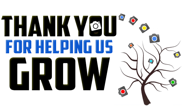 thank you for helping us grow